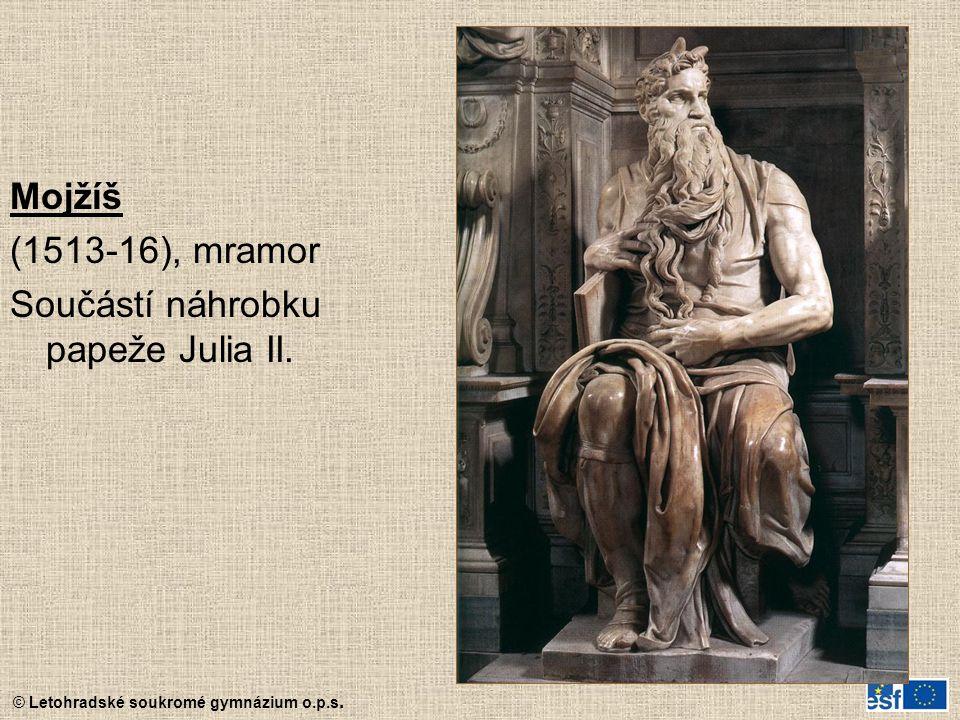 Mojžíš (1513-16), mramor Součástí náhrobku papeže Julia II.