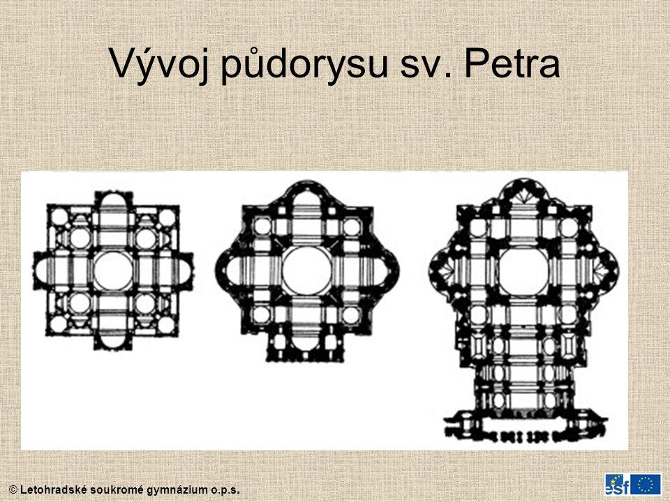 Vývoj půdorysu sv. Petra