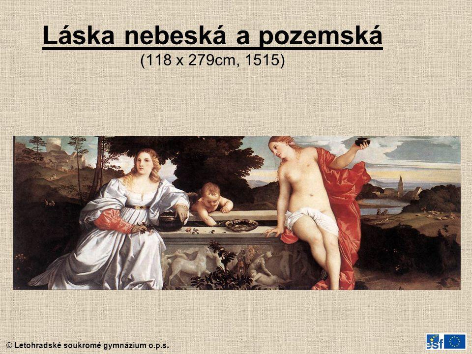 Láska nebeská a pozemská (118 x 279cm, 1515)