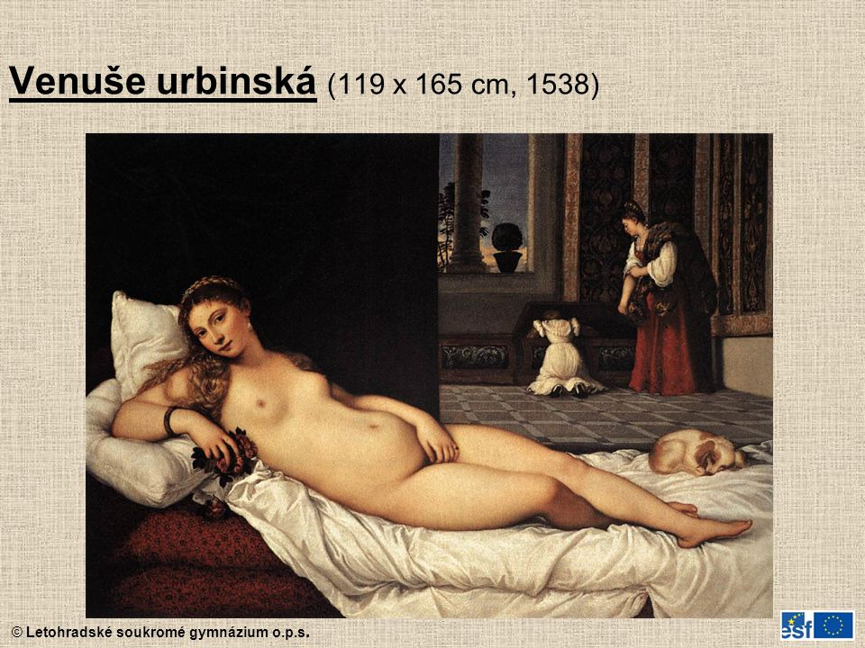 Venuše urbinská (119 x 165 cm, 1538)