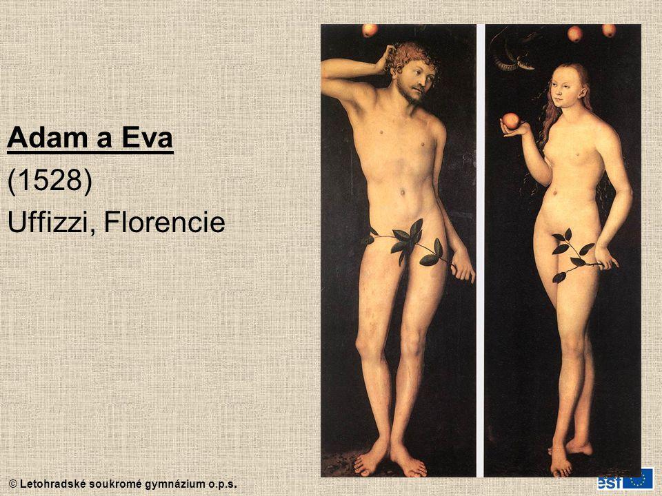 Adam a Eva (1528) Uffizzi, Florencie