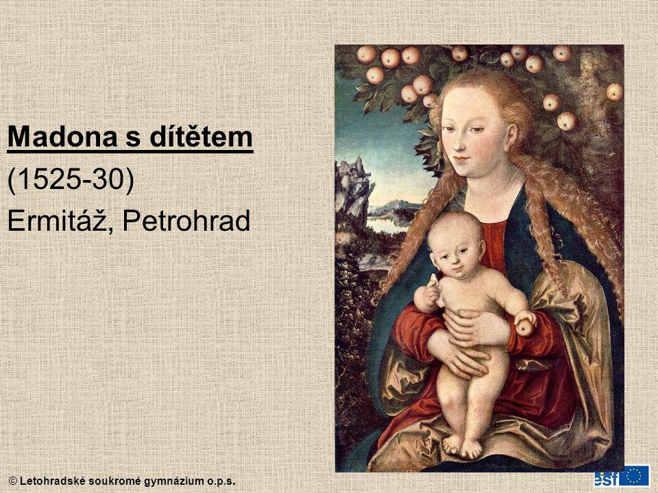 Madona s dítětem (1525-30) Ermitáž, Petrohrad