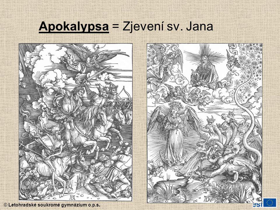 Apokalypsa = Zjevení sv. Jana