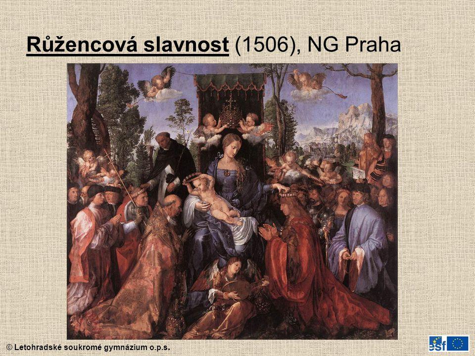 Růžencová slavnost (1506), NG Praha