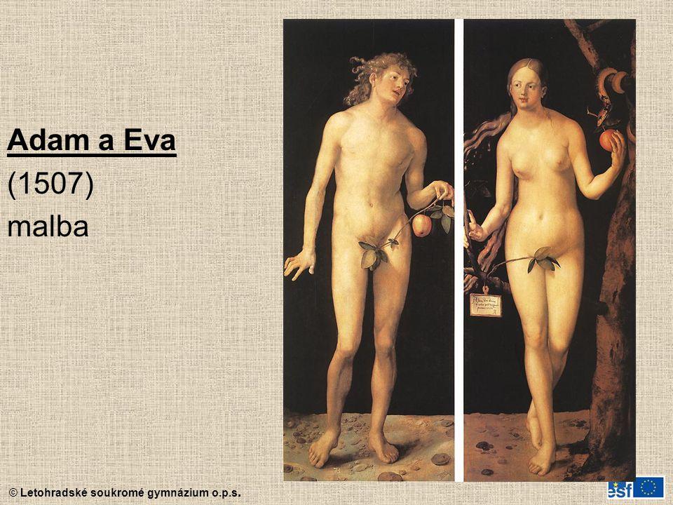 Adam a Eva (1507) malba