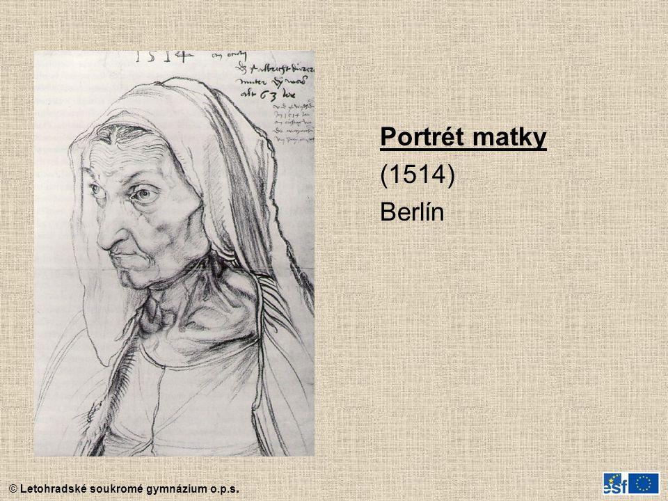 Portrét matky (1514) Berlín