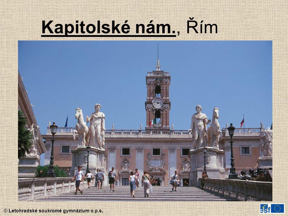 Kapitolské nám., Řím