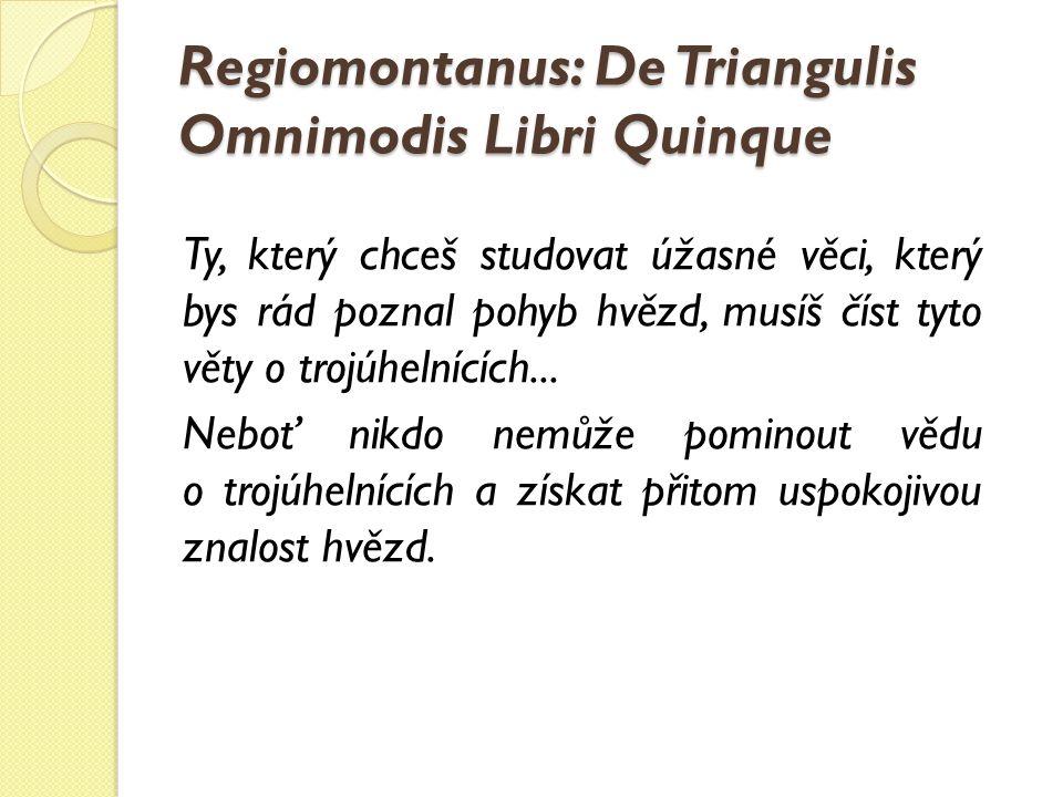 Regiomontanus: De Triangulis Omnimodis Libri Quinque