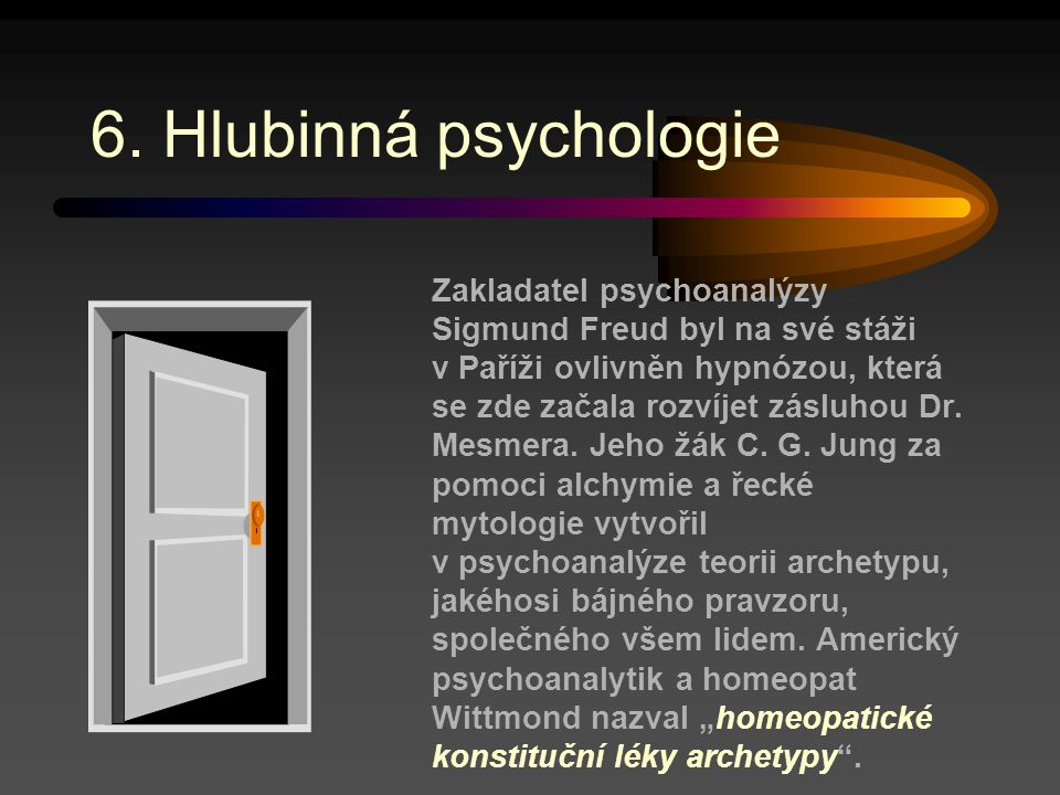 6. Hlubinná psychologie