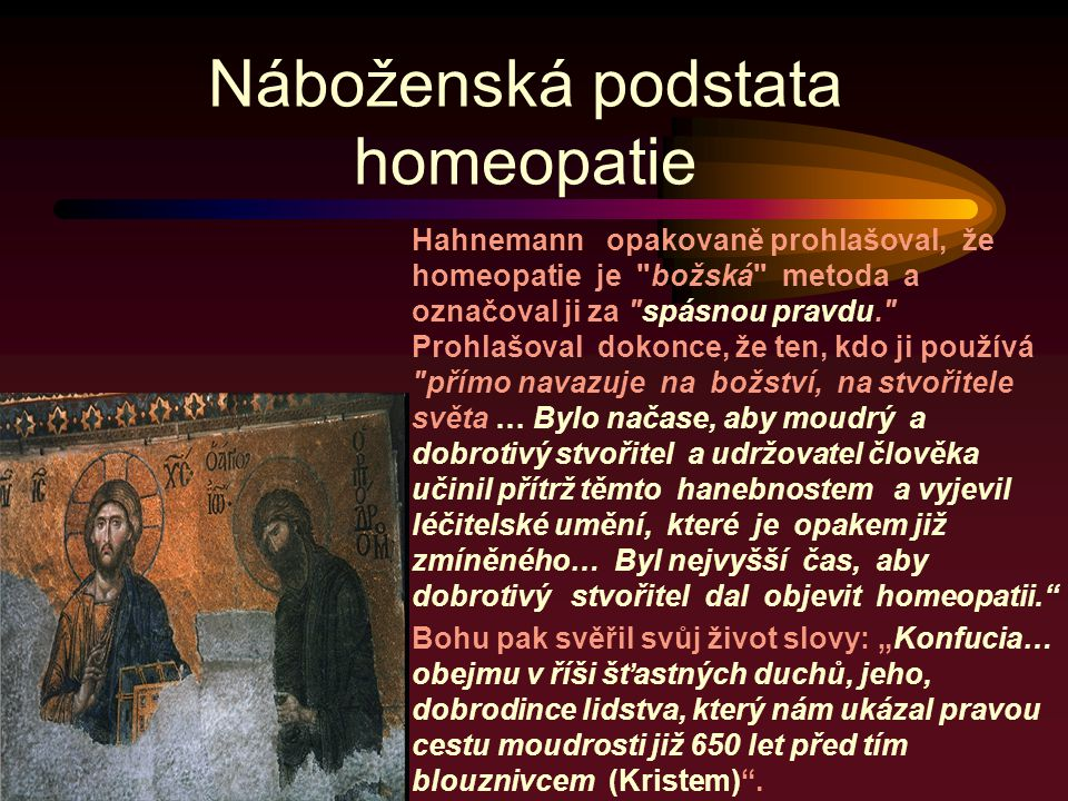 Náboženská podstata homeopatie