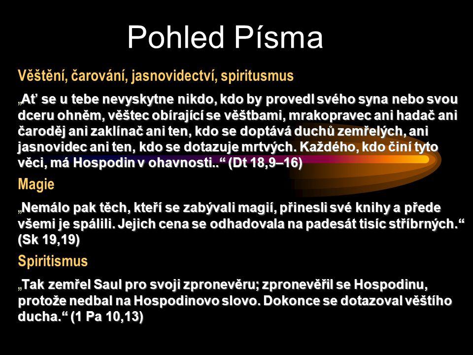 Pohled Písma Věštění, čarování, jasnovidectví, spiritusmus