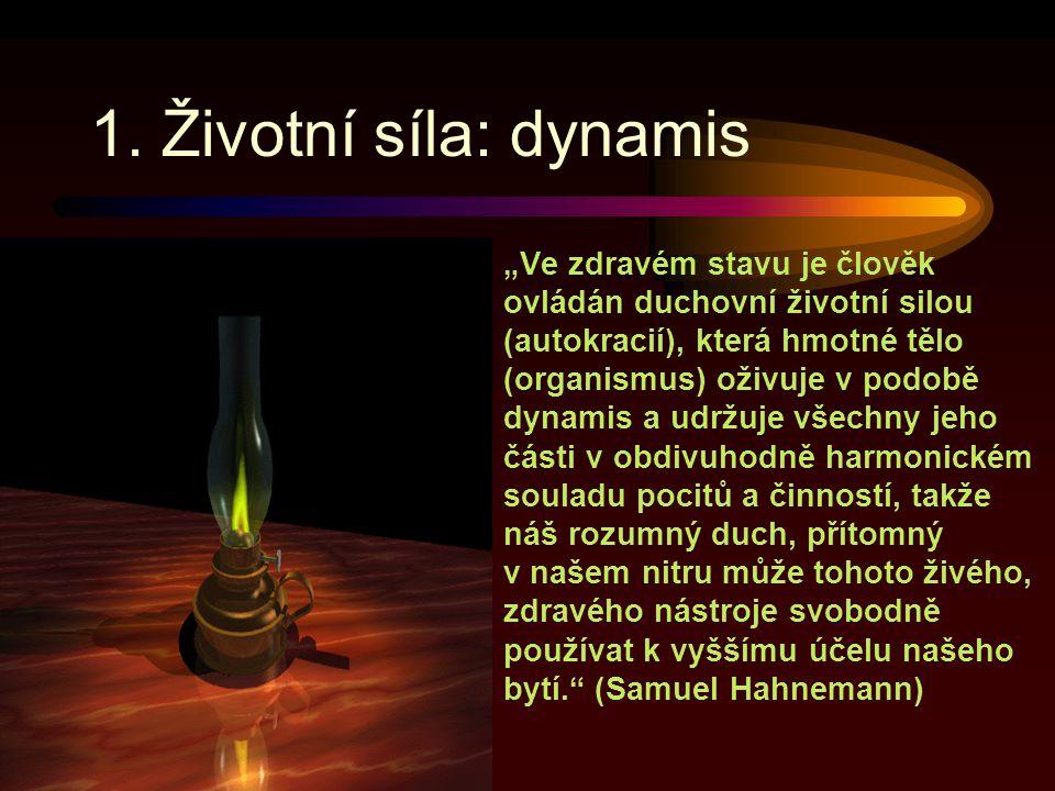 1. Životní síla: dynamis