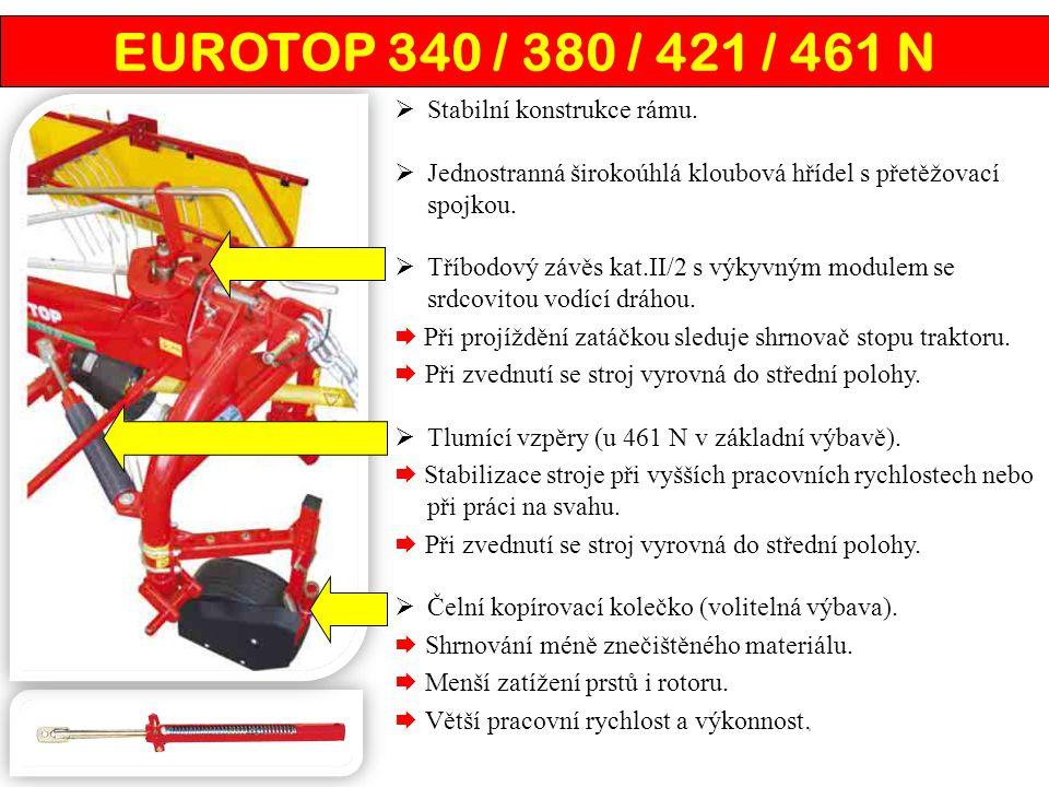 EUROTOP 340 / 380 / 421 / 461 N Stabilní konstrukce rámu.