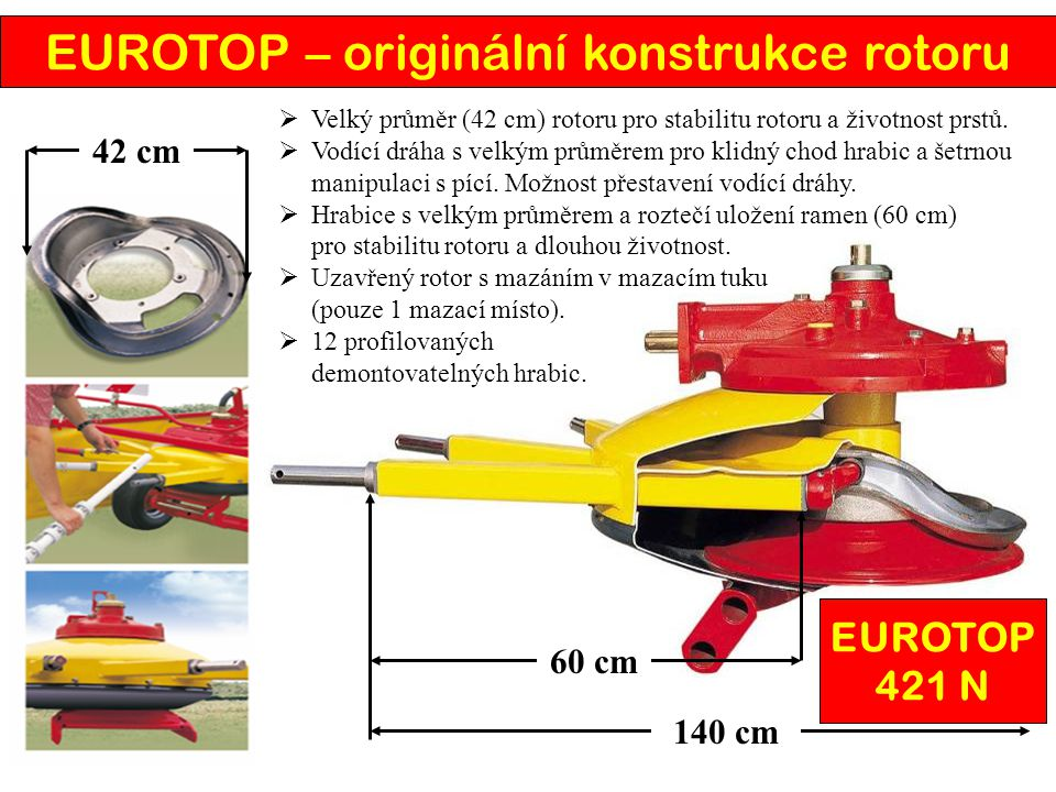 EUROTOP – originální konstrukce rotoru