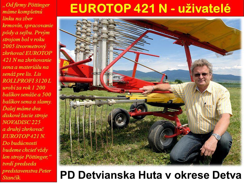 EUROTOP 421 N - uživatelé PD Detvianska Huta v okrese Detva