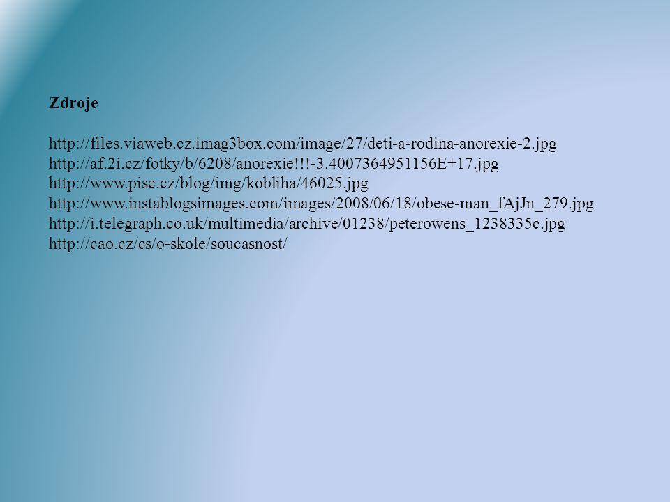 Zdroje http://files.viaweb.cz.imag3box.com/image/27/deti-a-rodina-anorexie-2.jpg http://af.2i.cz/fotky/b/6208/anorexie!!!-3.4007364951156E+17.jpg.
