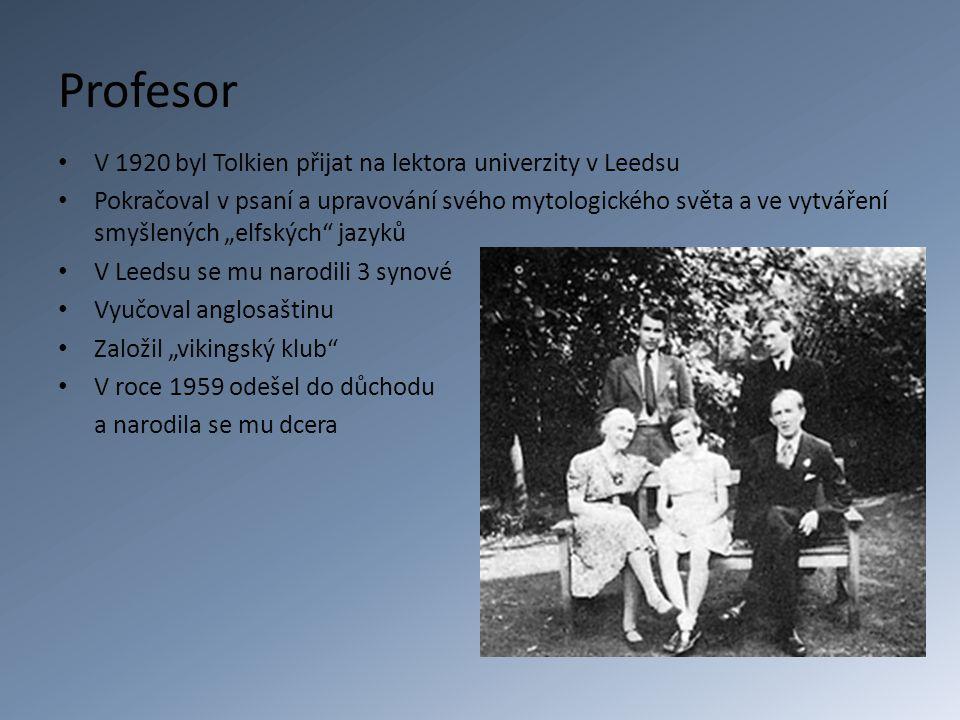Profesor V 1920 byl Tolkien přijat na lektora univerzity v Leedsu