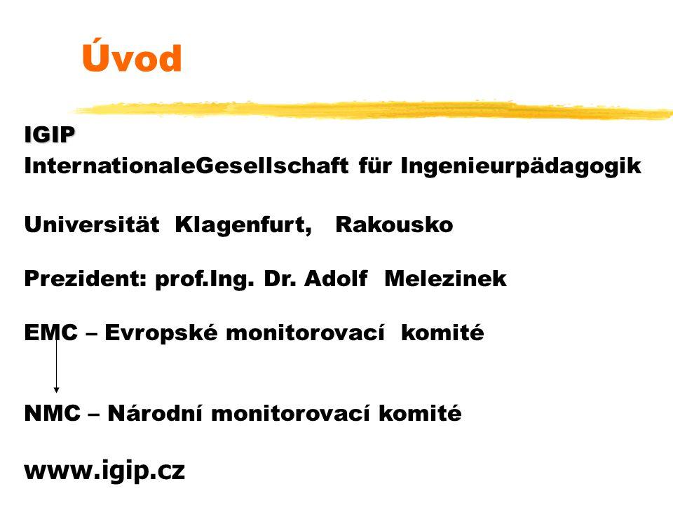 Úvod IGIP. InternationaleGesellschaft für Ingenieurpädagogik. Universität Klagenfurt, Rakousko.