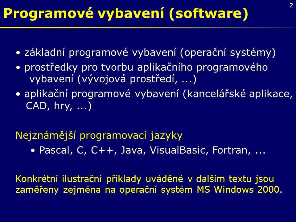 Programové vybavení (software)