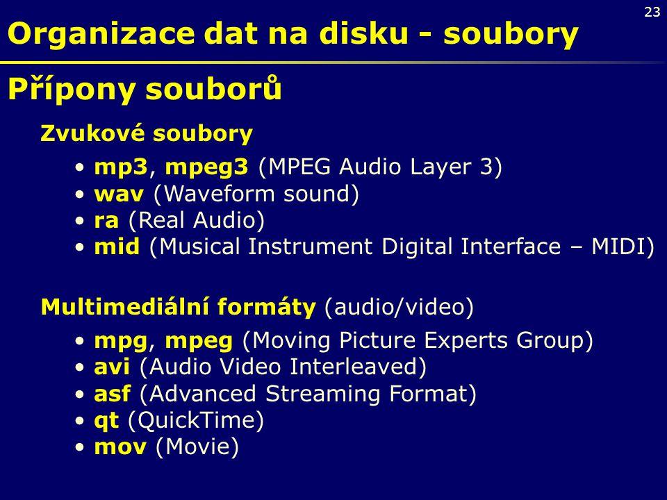 Organizace dat na disku - soubory
