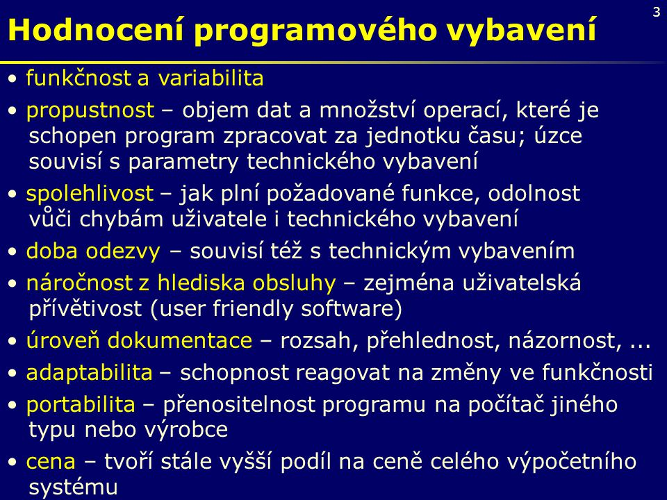 Hodnocení programového vybavení