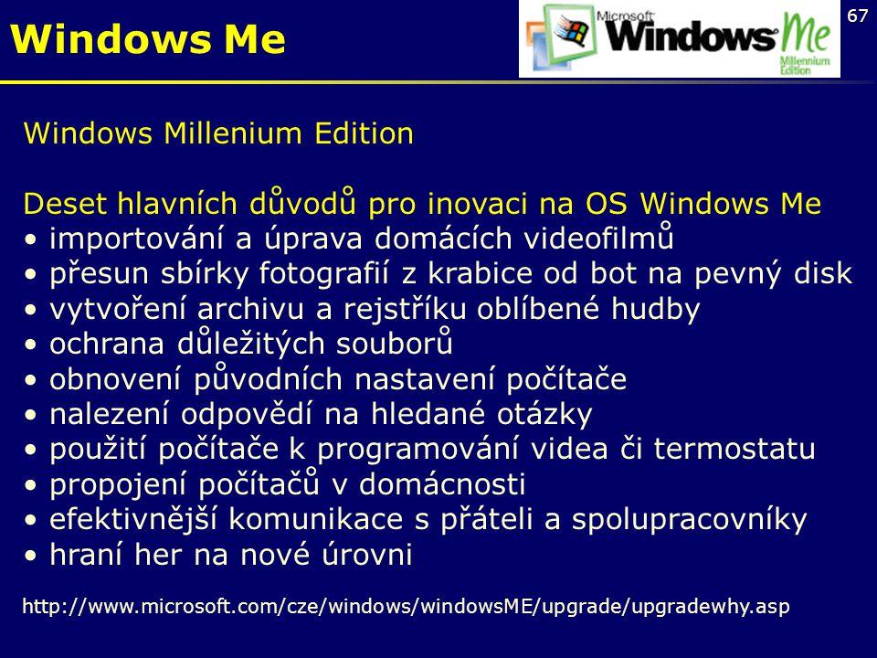Windows Me Windows Millenium Edition