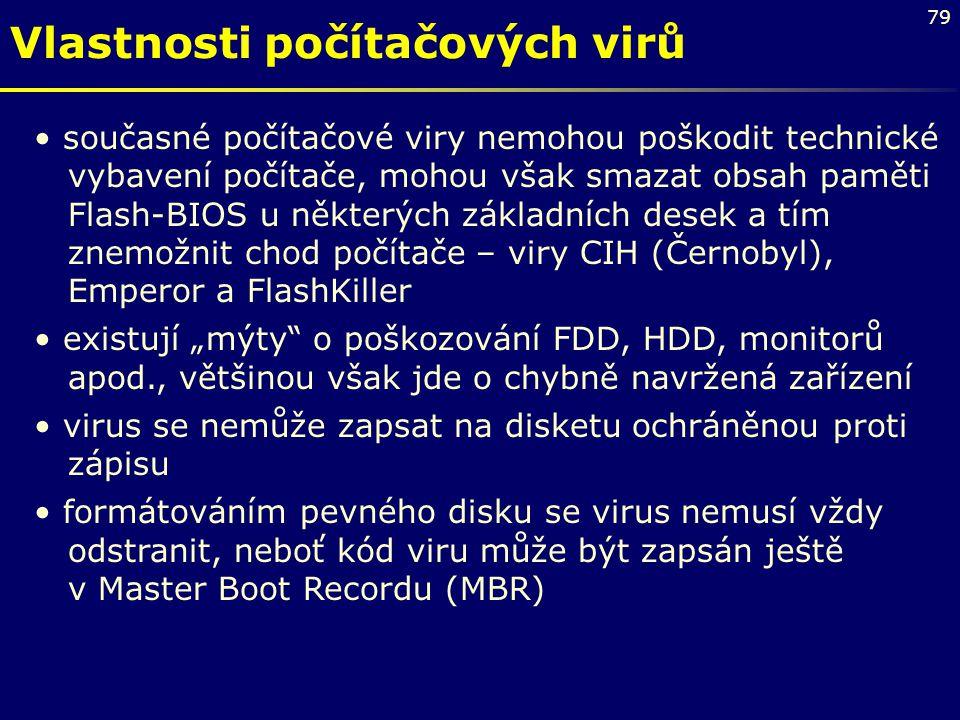 Vlastnosti počítačových virů
