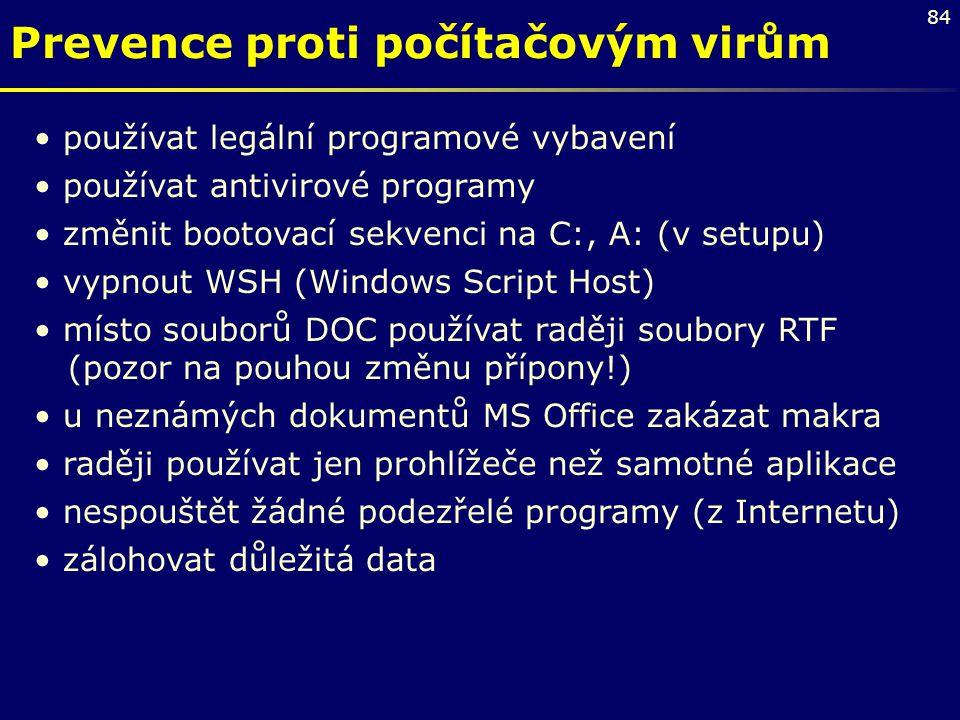 Prevence proti počítačovým virům