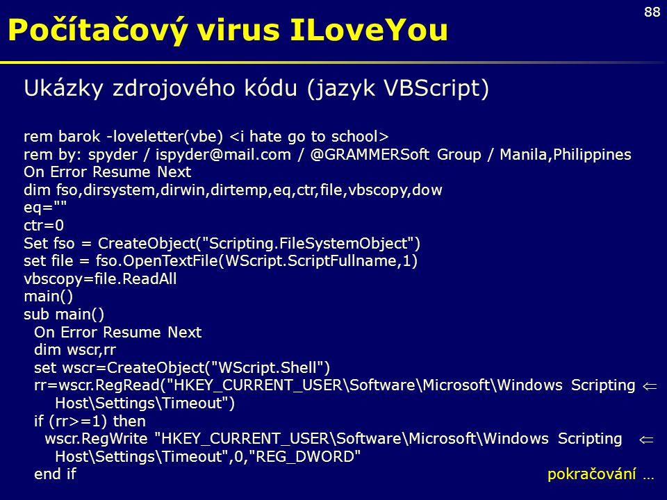 Počítačový virus ILoveYou