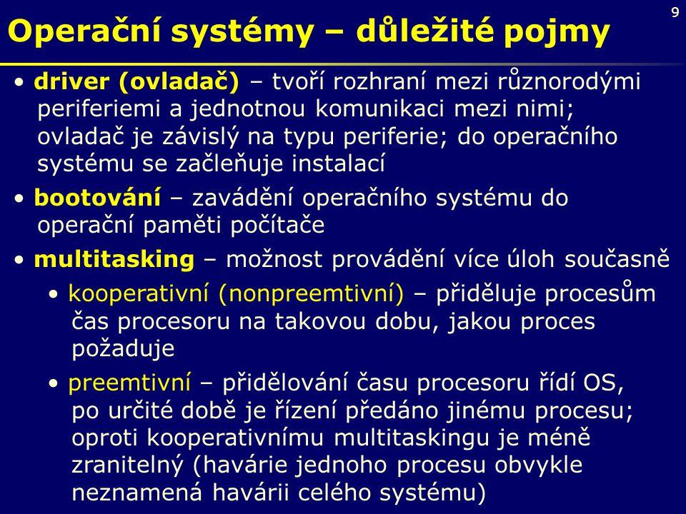 Operační systémy – důležité pojmy