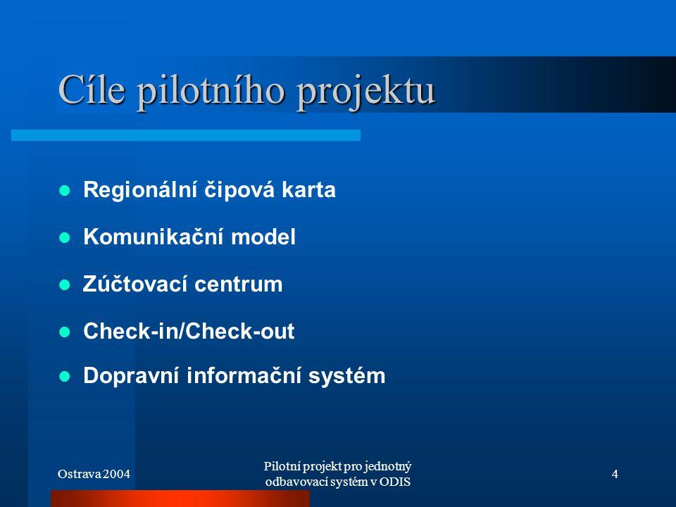 Cíle pilotního projektu