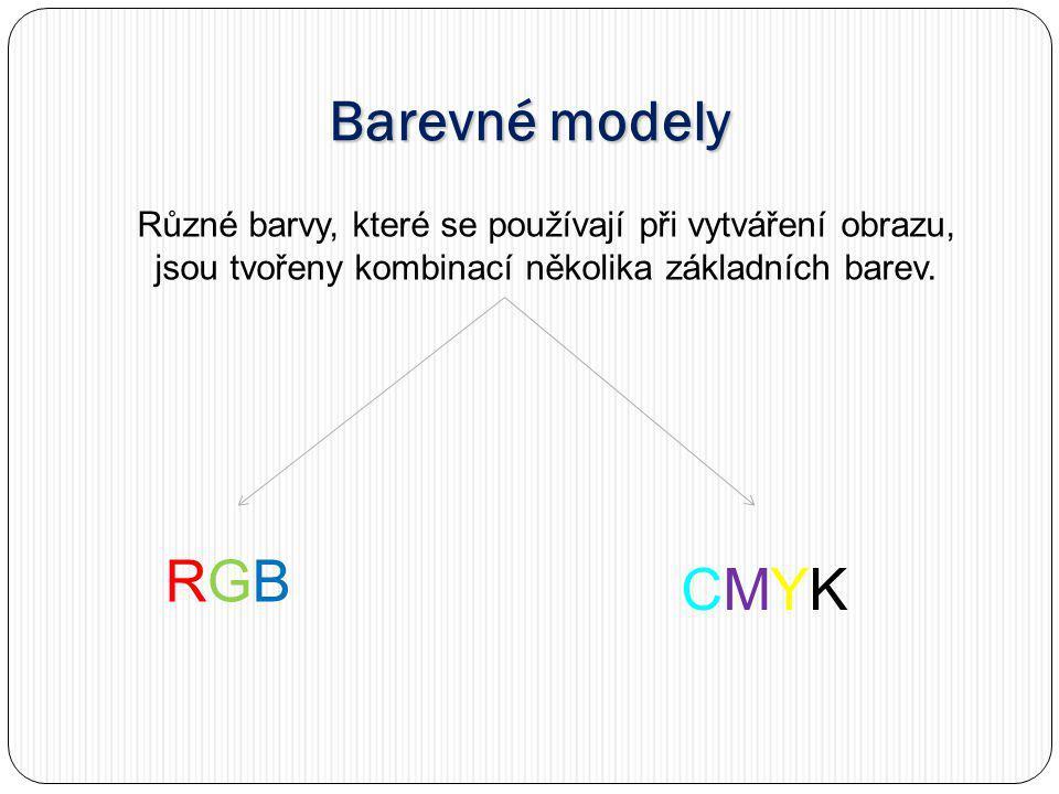 Barevné modely RGB CMYK