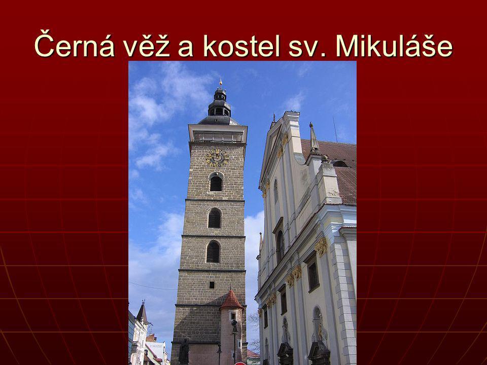 Černá věž a kostel sv. Mikuláše