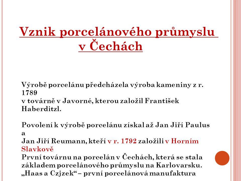 Vznik porcelánového průmyslu v Čechách