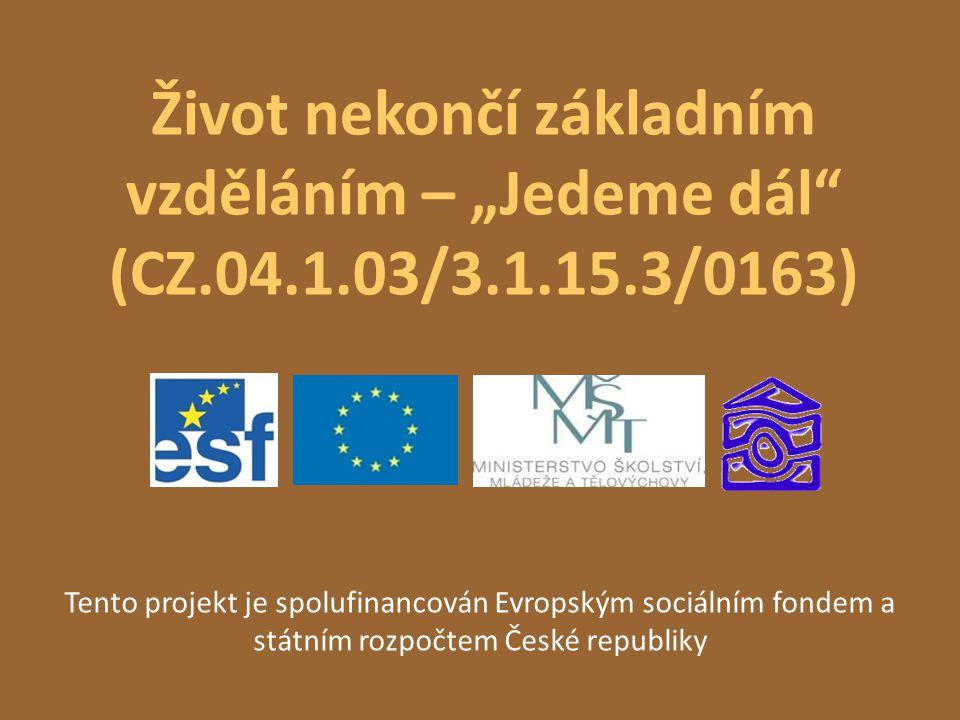 """Život nekončí základním vzděláním – """"Jedeme dál (CZ. 04. 1. 03/3. 1"""