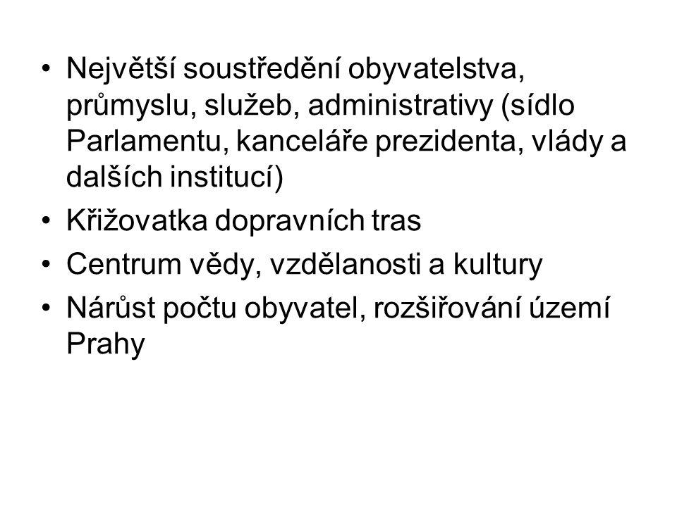 Největší soustředění obyvatelstva, průmyslu, služeb, administrativy (sídlo Parlamentu, kanceláře prezidenta, vlády a dalších institucí)