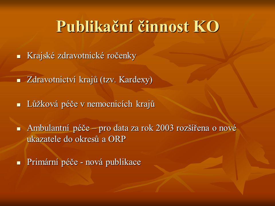 Publikační činnost KO Krajské zdravotnické ročenky