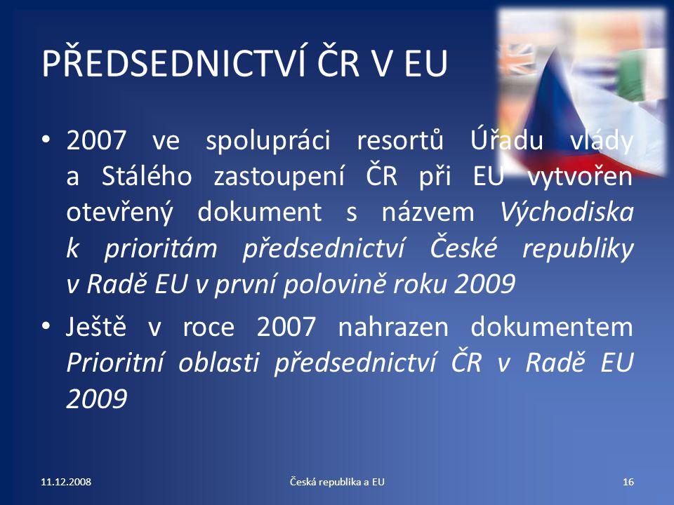 PŘEDSEDNICTVÍ ČR V EU