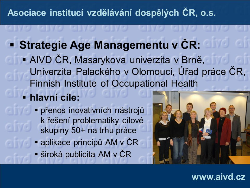 Strategie Age Managementu v ČR: