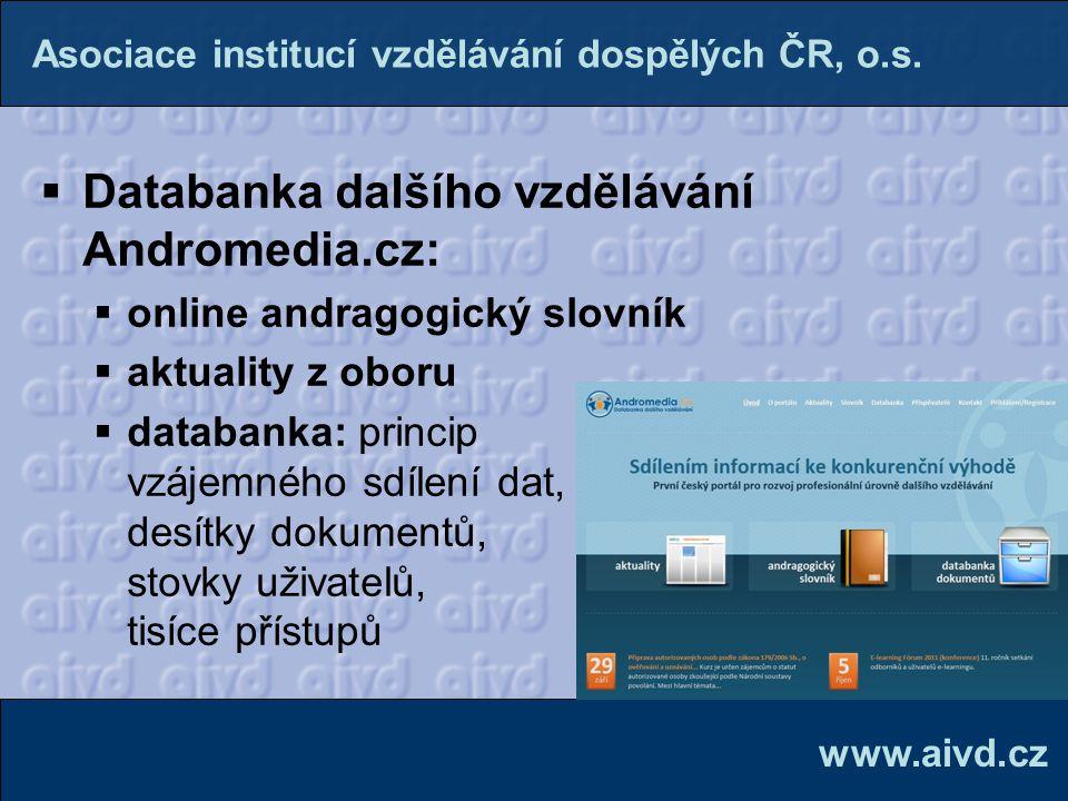 Databanka dalšího vzdělávání Andromedia.cz: