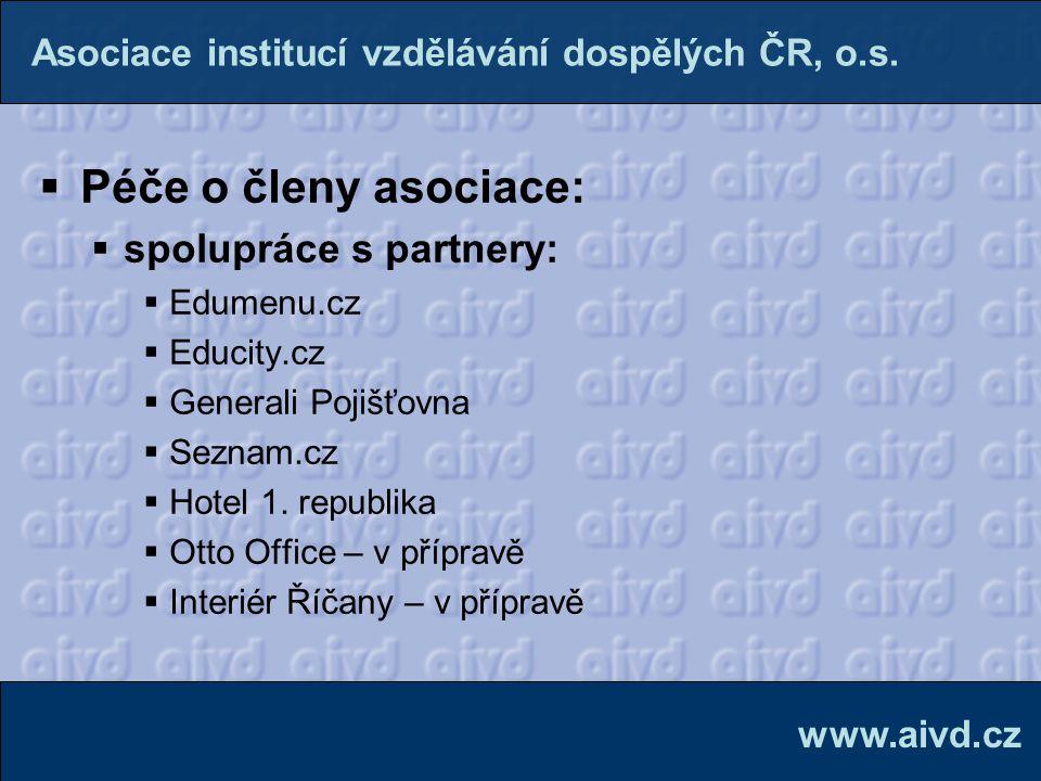Péče o členy asociace: spolupráce s partnery: