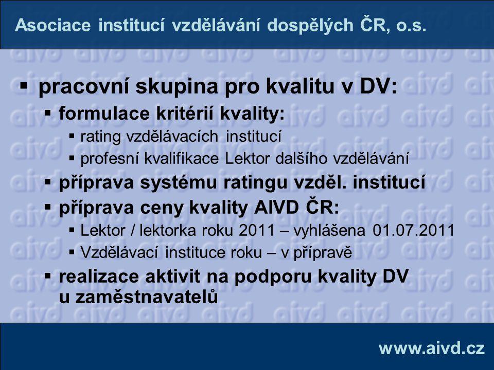 pracovní skupina pro kvalitu v DV: