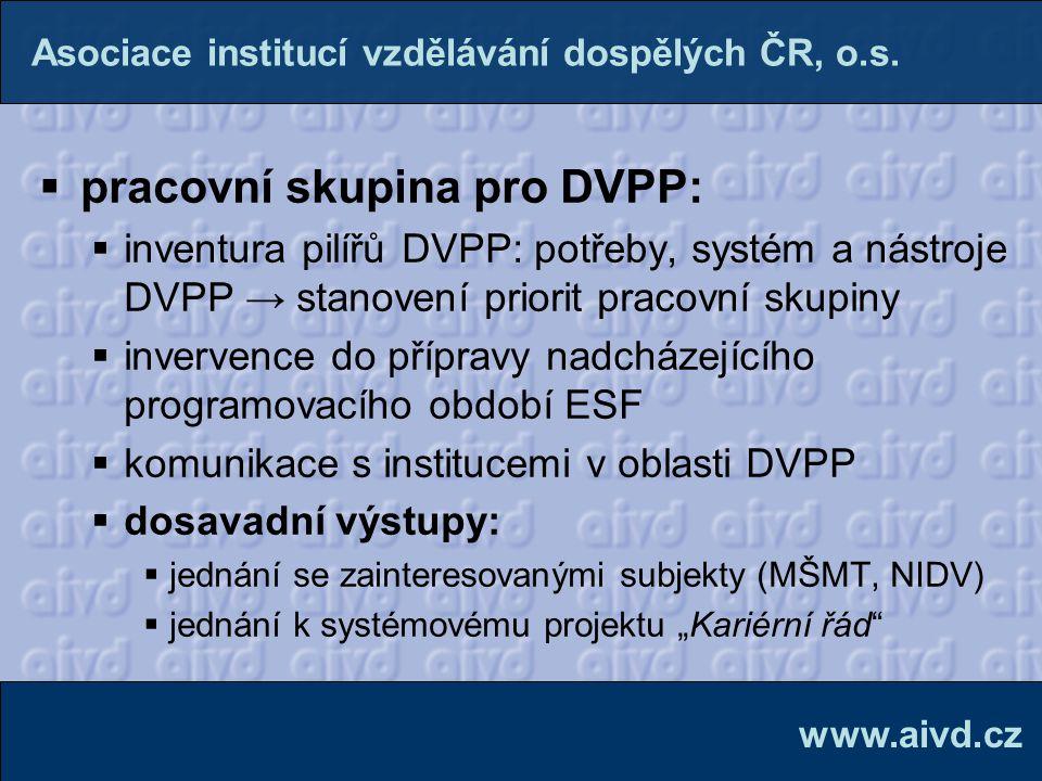 pracovní skupina pro DVPP: