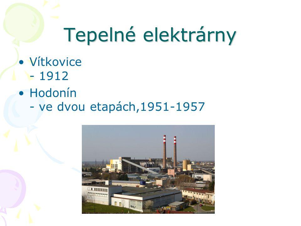 Tepelné elektrárny Vítkovice - 1912