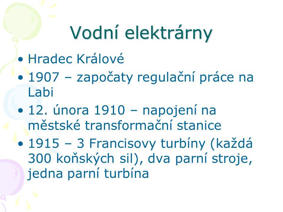 Vodní elektrárny Hradec Králové