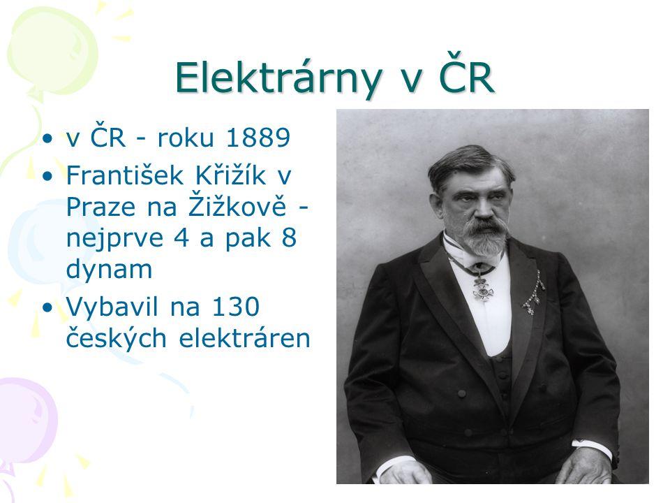 Elektrárny v ČR v ČR - roku 1889