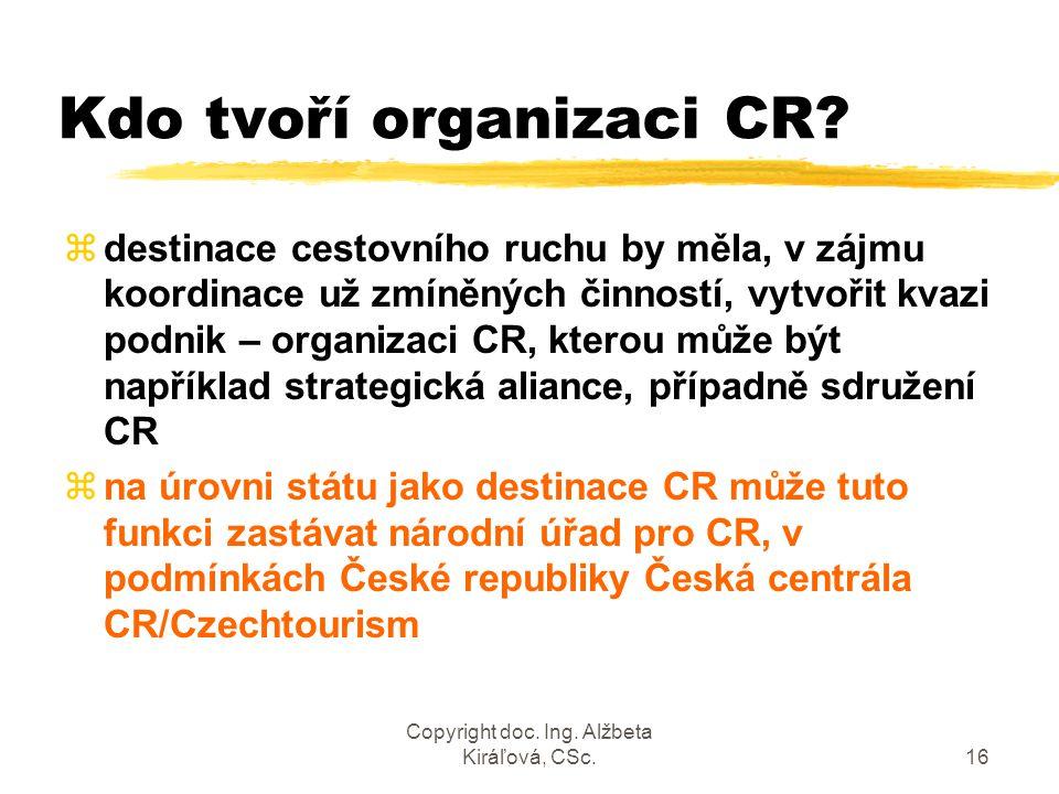 Kdo tvoří organizaci CR