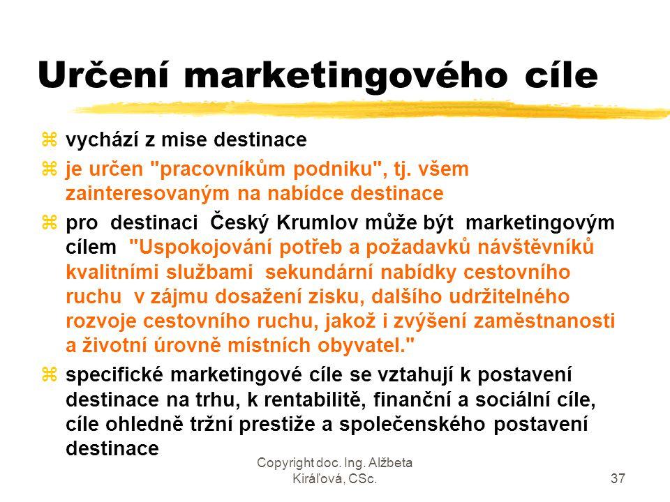 Určení marketingového cíle