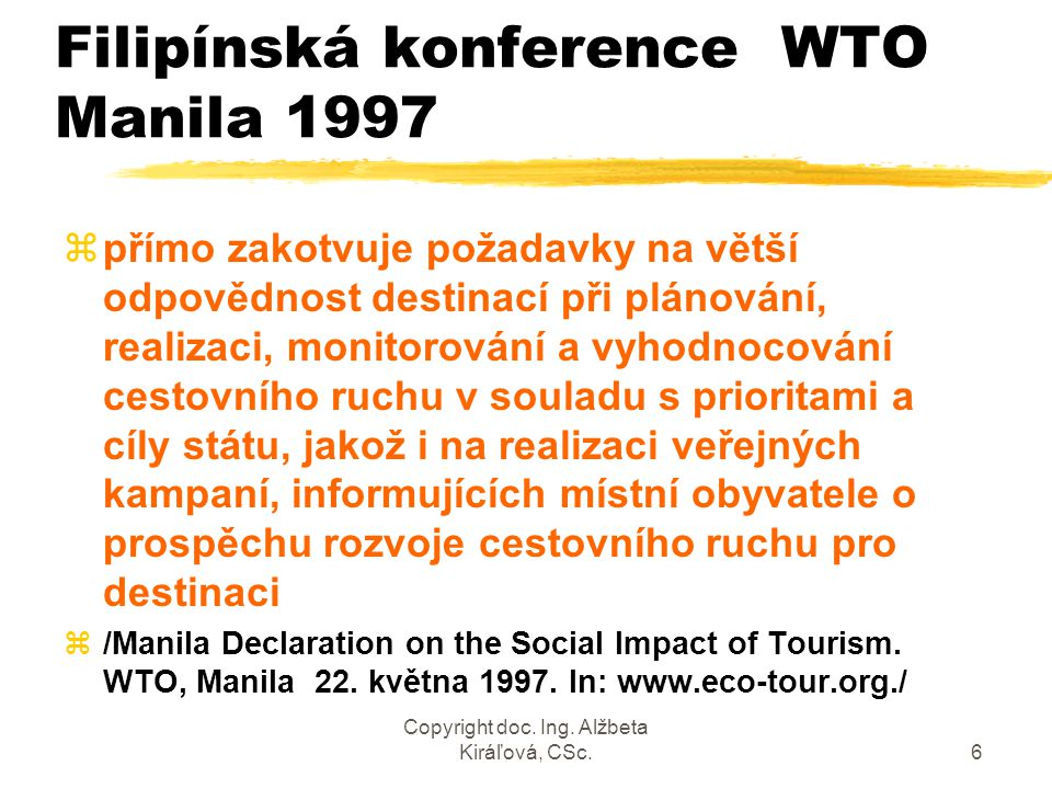 Filipínská konference WTO Manila 1997