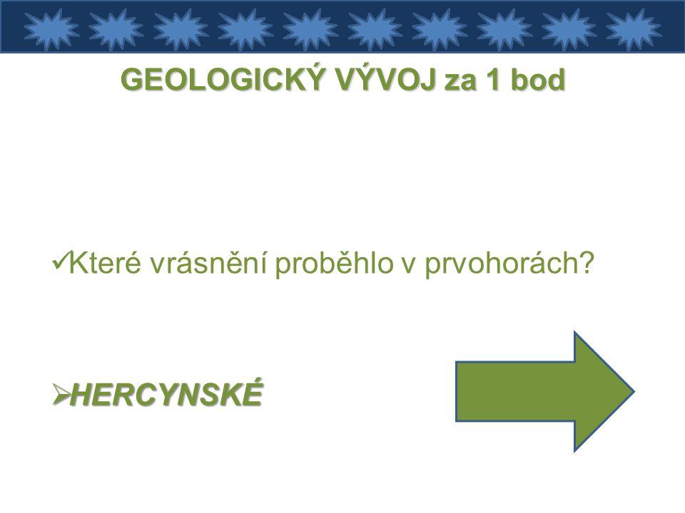 GEOLOGICKÝ VÝVOJ za 1 bod